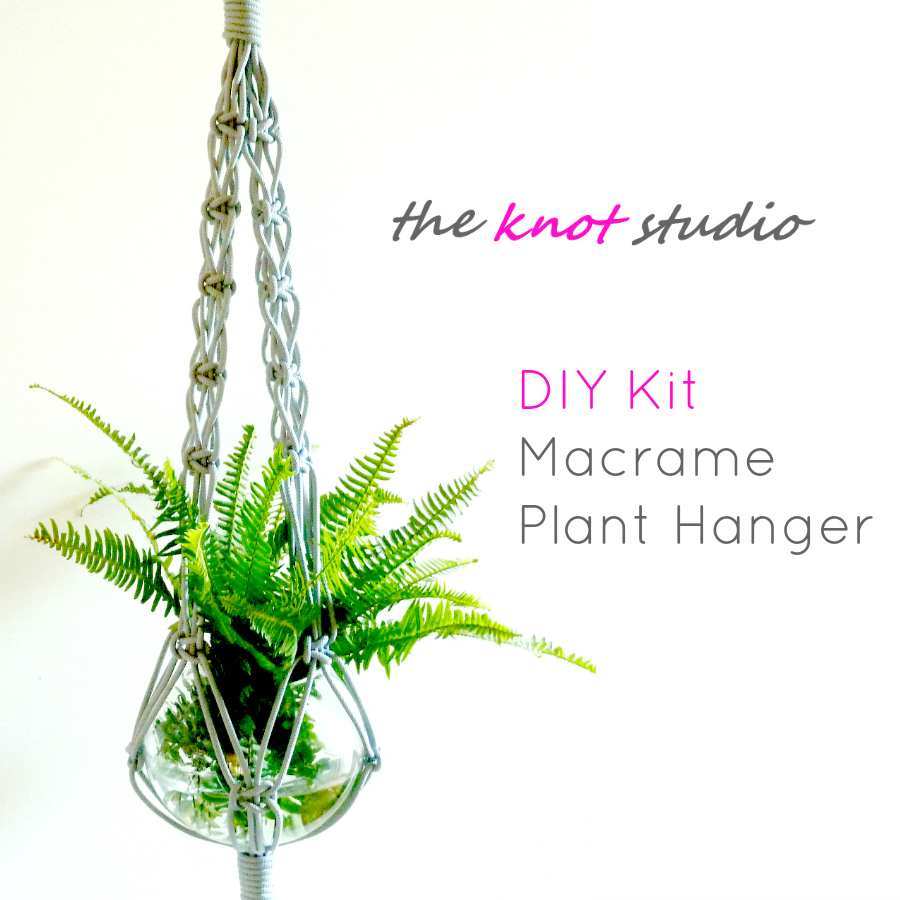 Diy Kit Macrame Plant Hanger The Knot Studio