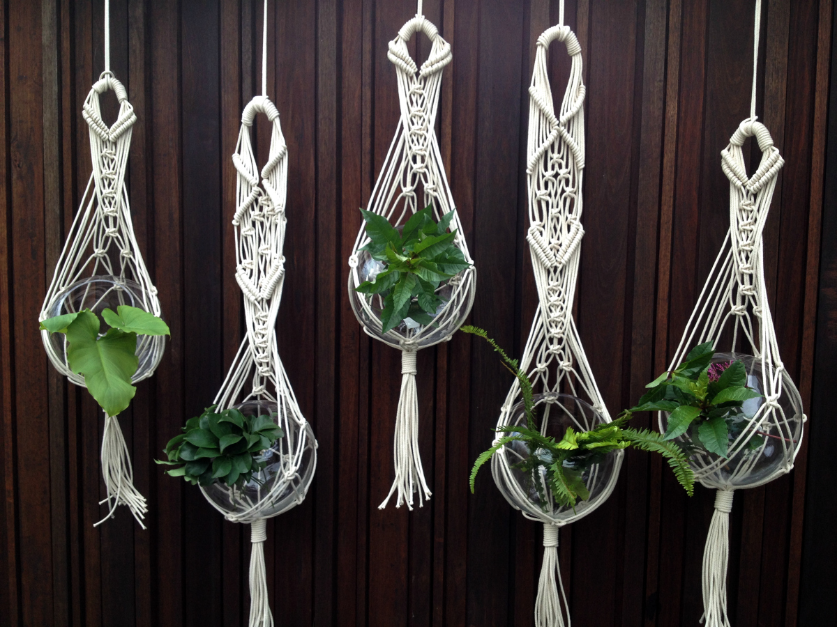 macrame knots plant hangers custom order australian interior landscapes the knot 4242